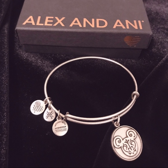 Alex and Ani Jewelry - Alex&Ani Disney Parks Mickey Charm Bracelet Bangle